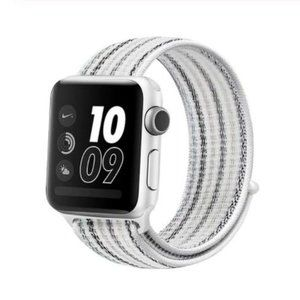 *NEW White Strip Sport Loop Strap For Apple Watch